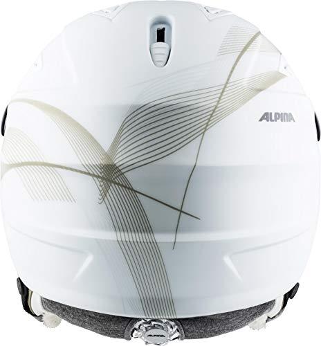 ALPINA Damen GRAP Visor 2.0 HM Skihelm, White-Prosecco matt, 54-57 cm