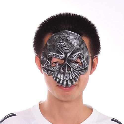 Circlefly Halloween-Maskenball Maske Schädel Latex Maske Eine Halbe Gesichtsmaske für Kinder