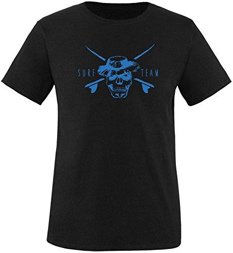 EZYshirt® Pirate Surfteam Herren Rundhals T-Shirt Schwarz/Blau