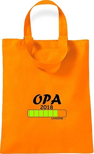 Geschenk Orange OPA Loading Geburt Baumwolltasche 2018 kleine ShirtInStyle 1xwYCpq0g