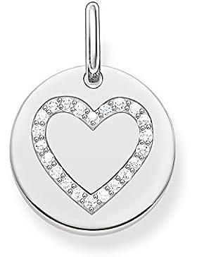 Thomas Sabo Damen-Anhänger Love Bridge Herz 925 Sterling Silber weiß 1.4 cm LBPE0005-051-14