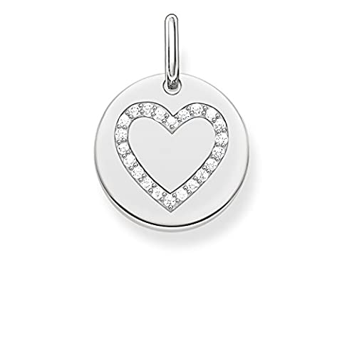 Thomas Sabo Women-Pendant Love Bridge 925 Sterling Silver Zirconia white LBPE0005-051-14
