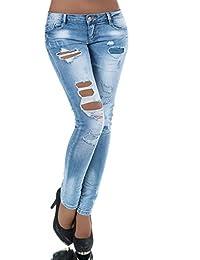 L776 Damen Jeans Hose Damenjeans Röhrenjeans Röhrenhose Röhre Normaler Bund