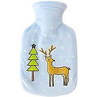 Preisvergleich für MSYOU Wärmflasche, süßes Cartoon-Muster, warme Wassertasche, kleine Handwärmer, tolles Geschenk für Frauen, Mädchen...