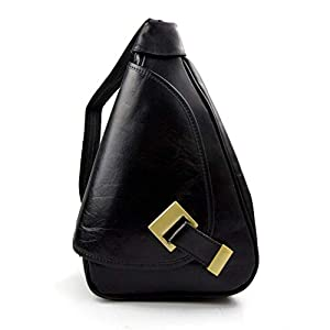 Leder rucksack menner damen leder tasche gürteltasche hüfttasche umhängetasche schultertasche tragetasche ledertasche seitentasche beutel schwarz