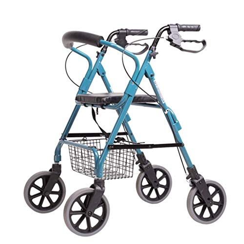 Rollator Walker Petite, Sitzmöbel Mit Verstellbarer Griffhöhe Und Einkaufskorb Einkaufswagenlaufkatze des Alten Mannes