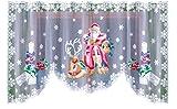Sehr Weihnachten attraktives Netzgardinen Santa Claus Breite: 299,7cm, Länge: 149,9cm
