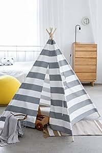 LITTLE Bot Tipi Zelt, cool ray natürliche Leinwand, Kinderspielzelt, drinnen und draußen Spielhaus by LITTLE Bot