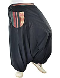 bonzaai pantalones harem pantalones arabes ropa boho pantalon palazzo pantalon hippie estilo bohemio chic Nachttraum XXL