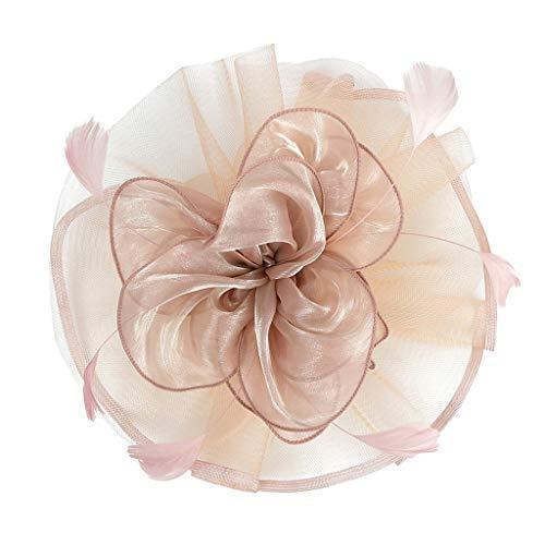 Fenteer Vintage Damen Blumen Fascinator Haarreif Stirnband Haarspange -
