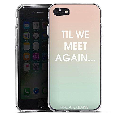 Apple iPhone X Silikon Hülle Case Schutzhülle Sprüche Farbverlauf MALAIKARAISS Silikon Case transparent