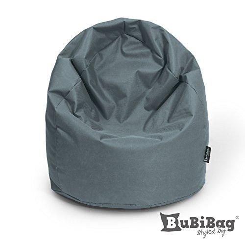 BuBiBag Sitzsack Sitzkissen Birnenform für In & Outdoor XXL 470 Liter - mit Styropor Füllung in 23 diversen Farben (anthrazit)