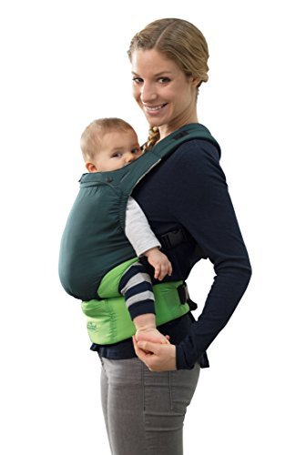 AMAZONAS Ergonomische Babytrage extra leicht Smart Carrier Ultra-Light Green Eigengewicht nur 370g mit Kapuze für Neugeborene & Kleinkinder mitwachsend 0-3 Jahre bis 15 kg