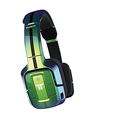 Mad Catz - Auricular Tritton Swarm Bluetooth, Color Verde Metalizado (PlayStation 4)