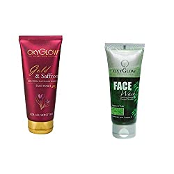 Oxyglow Golden Glow Gold & Saffron Face Wash With Oxyglow Neem & Tulsi Face Wash