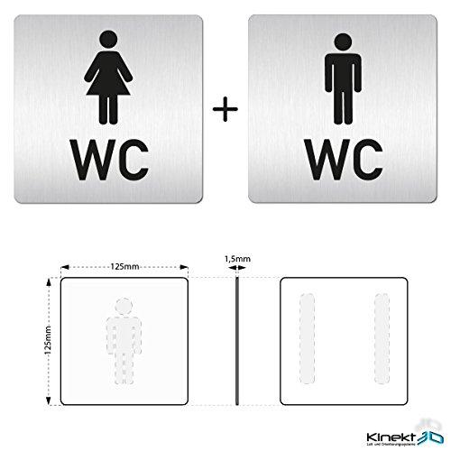 Hinweisschild Türschild Angemessen Wc Toilette Schild Oder Klebeschild Pfeil Rechts