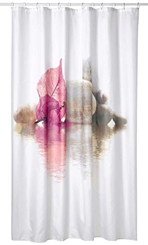 SIDCO Duschvorhang Textil Borneo Badewannenvorhang Wannenvorhang 180 x 200 cm Polyester