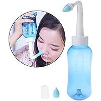 Preisvergleich für ECMQS Erwachsene Kinder Neti Topf Standard Nasen Nase Waschen Yoga Detox Sinus Allergien Relief Spülen 300 ml