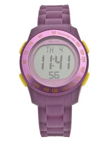 Sector - R3251572415 - Expander - Montre Mixte - Quartz Digital - Cadran Violet - Bracelet Silicone Violet