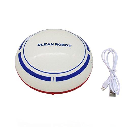 Cooljun Smart Robot, automatische USB wiederaufladbare Smart Roboter Vakuum Bodenreiniger Sweeping Saug (White)