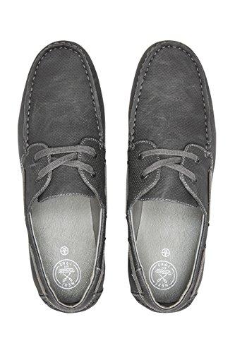 next Chaussures Bateau Perforées Standard Homme Gris