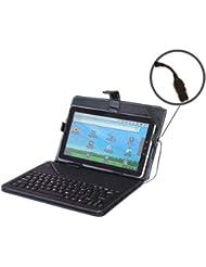 Noir Étui clavier USB pour tablette Android Tablette PC Samsung 25,4cm rembourré