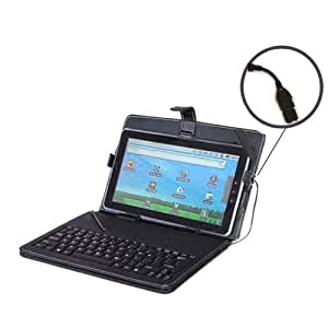 """USB Keyboard QWERTY Carry Case/Stand for TOSHIBA Excite AT200 Tablet 10.1"""" Inch"""