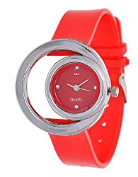 A&A CORP Red Fish Shape Analog Watch for Women and Girl