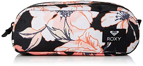 Roxy Damen Da Rock Pencil Case Geldbörse, Anthrazit Probe New Flowers, 1SZ