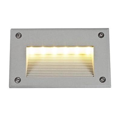 """LED Wandleuchte """"Brick"""" in Silbergrau von SLV"""