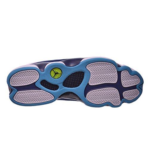 Nike Air Jordan 13 Retro Low, Scarpe da Basket Uomo wht/mtllc slvr-mdnght nvy-tros