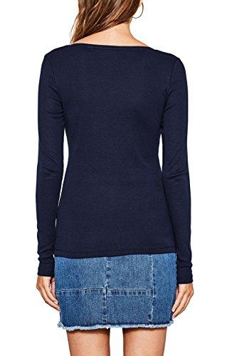 ESPRIT Damen Langarmshirt Blau (NAVY 400)