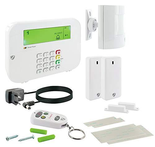 SCHWAIGER -5385- Funk-Alarm-System/Funk Alarmanlage Set/Alarm-Anlage Smart Home/mit Fernbedienung/Einbruchschutz/Fenster-Sicherung/Tür-Sicherung/Green Guard