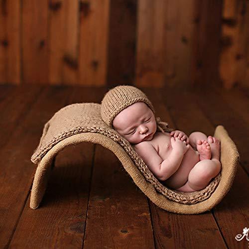 Neugeborene Fotografie Requisiten 3er Set S-Typ Requisiten + Decken + Hüte vollständiger Satz Babyfotografie assistierte Modellierung Requisiten schießen
