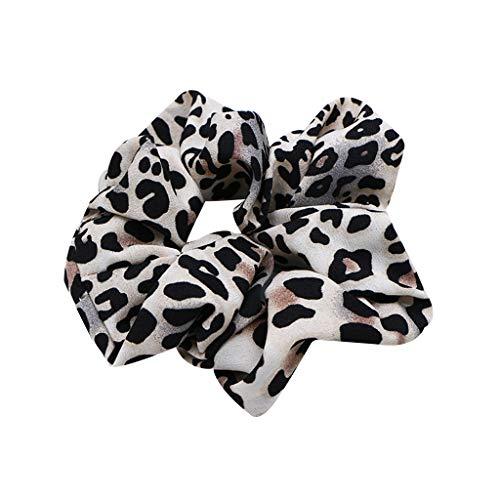 VIccoo Frauen Vintage Breite Geraffte Haargummis Leopard Dot Gedruckt Gesichtsreinigung Make-Up Haar Seil Dickdarm Form Pferdeschwanz Halter 3 Farben - 1# Geraffte Dot