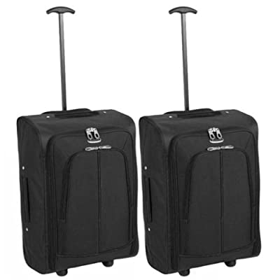 Karabars Official Set of 2 Super Lightweight Cabin Bags - 3 Years Warranty! - low-cost UK light shop.