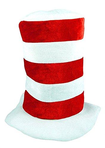 Islander Fashions Childs Tall Red & White gestreiften Hut Dr. Seuss Buch Woche Hut Kost�mzubeh�r ()