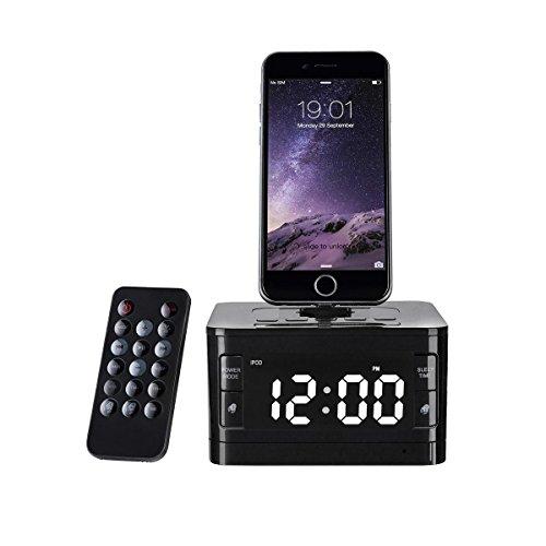 Bzng Stereo FM Uhr Radio mit Blitzdock Laden/Spielen für iPhone 5/5S 6/6S/6Plus 7/7Plus