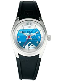 Quiksilver - Reloj de caballero de cuarzo, correa de plástico color plata