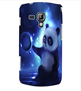 ColourCraft Cute Panda Design Back Case Cover for SAMSUNG GALAXY S DUOS 2 S7582
