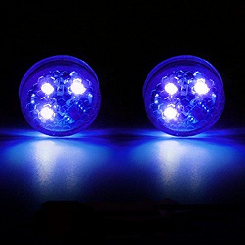 GOZAR 2 X Auto Anti-Collisione Luce LED Decorativi Luci Anti-Recupero di Sicurezza di Avvertimento Luce Libera Sensore Wireless Luci-Blu