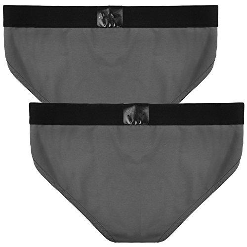 Tanga Slips Herren, Sondereu G Strings Baumwolle Unterhose Bequeme Unterwäsche Bikini Lingerie 2er Pack 2 Grays