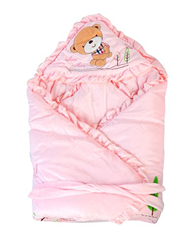 Mee Mee MM-98023A Baby Warm Wrapper cum Blanket with Hood (Light Pink)  available at amazon for Rs.769