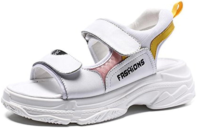 Cazador de sueños Zapatos de tacón alto Feminine Sexy PU Moda Sandalias de boca poco profundas de la punta del... -