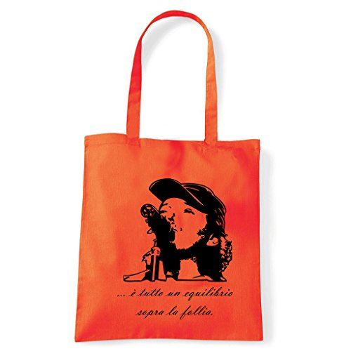 Art T-shirt, Borsa Shoulder Vasco Rossi Brivido Follia Arancio