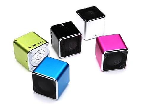 MP3 Player Mini Tragbarer Portabler Lautsprecher Box USB Micro SD grün