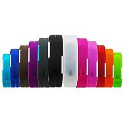 BINKO® Ultradünne Sport-Armbanduhr, für Sport im Freien, Silikon, wasserfest, digitalanzeige, für Fitnessstudio / Laufen, LED, größenverstellbare Armbanduhr, damen Herren Kinder, 13C-Purple