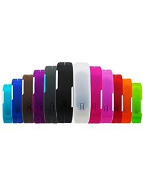 BINKO® Ultradünne Sport-Armbanduhr, für Sport im Freien, Silikon, wasserfest, digitalanzeige, für Fitnessstudio...