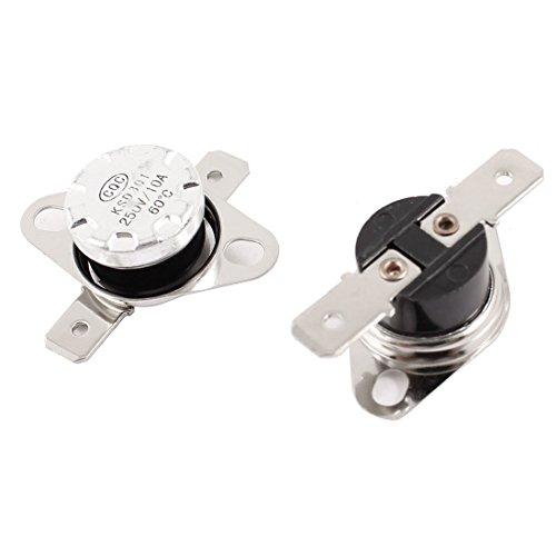 2Pcs Thermostat Temperaturregelung Schalter 60C Normal geschlossen KSD301