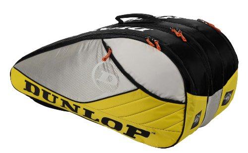 DUNLOP Tennistasche Aerogel 4D 10er Racket-Bag Thermo, Yellow, 76 x 33 x 38 cm, TD816981 -